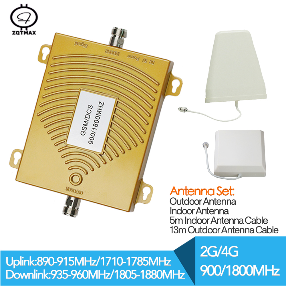 GSM 2g 900 1800mhz Dual Band Repeater Dcs 4G LTE Phone Amplifier Cellular Mobile Booster With Antenna For Cell Phone 4g Repeater