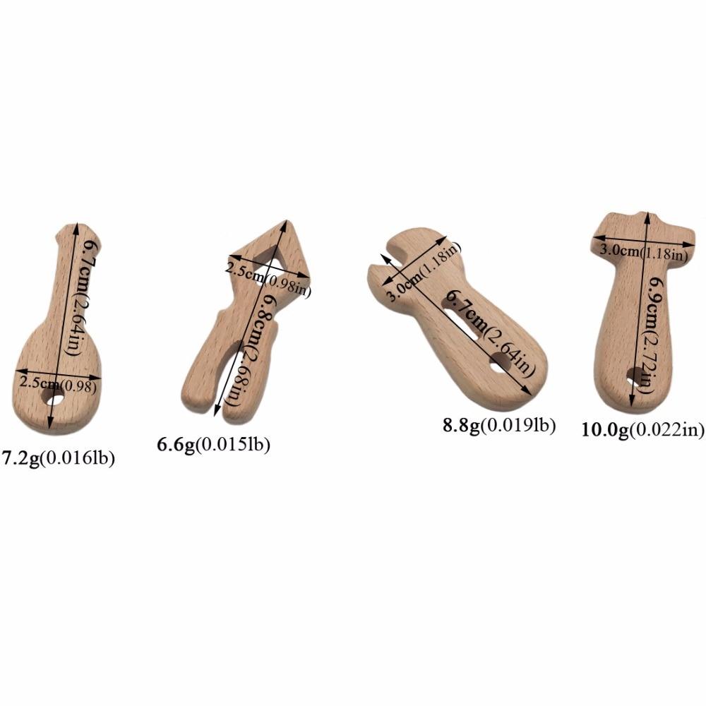 Lustige Werkzeuge Holz Beißring Anhänger 4 teil / satz - Säuglingspflege - Foto 3