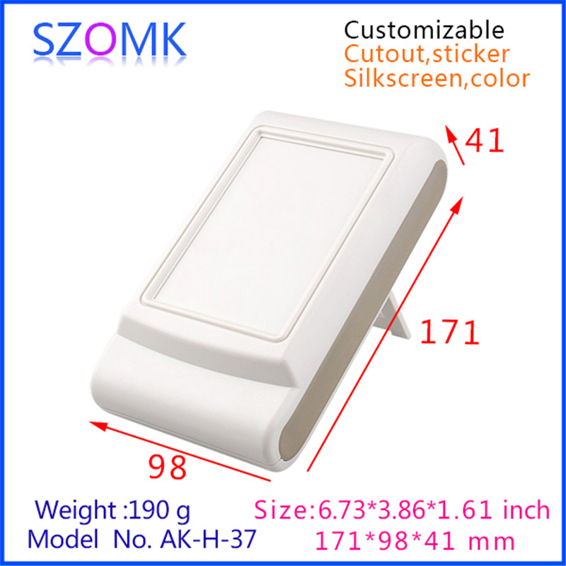 10 pcs, szomk electronics plastic handheld enclosure 171*98*41mm electrical plastic box diy instrument bracket enclosure