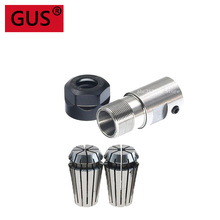 1set C16 ER11 5mm 6mm 6.35mm 7mm 8mm 10mm  Motor Shaft Collet Chuck Extension Rod Spindle Collet Lathe Tools+2pcs collet 1/4 1/8 цена