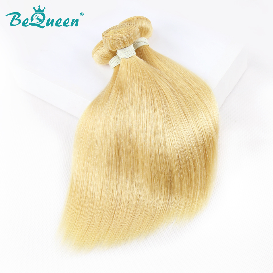 Bequeen Hair Factory Brazilian Blonde Straight Wave Hair Extensions 100 Virgin Hair 1 3 4 pics