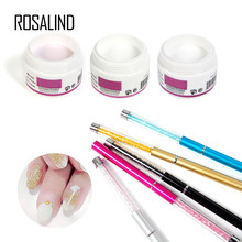 ROSALIND Acrylic Powder for nails art beauty 15 choices acrylic with pen set For Professional beauty nail Manicure Tool(China)