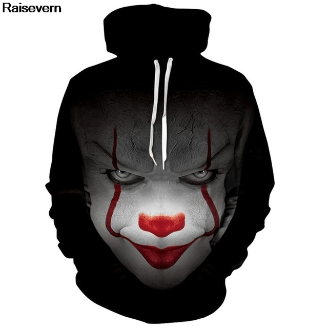 Pennywise Hoodie Men Women All Over Printed 3D Hoodies Sweatshirts 2018 Spring Autumn Pullover Hoody Tops Casual Male Tracksuit