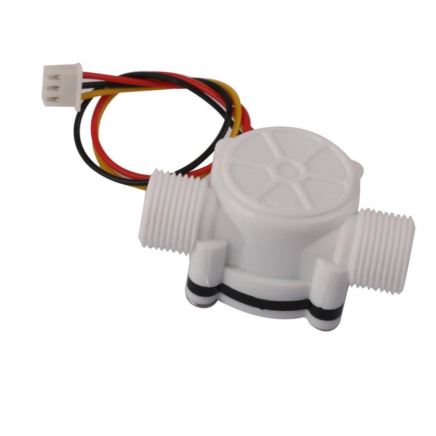 "Generic 3/8"" External Threads 0.3-10L/min Water Flow Sensor Flowmeter Water Control"