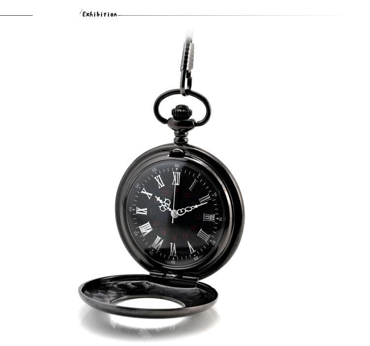 bolso fob relógios clamshell negócios masculino poket relógio pingente colar