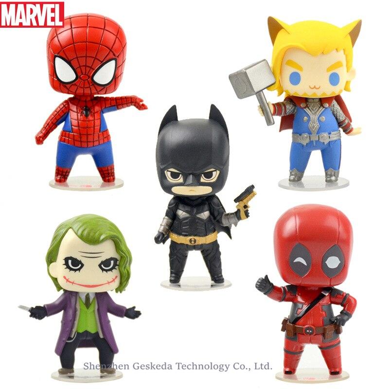 Hasbro Marvel Cartoon children Avengers doll Iron Man hand model cake anime ornaments car accessories toys