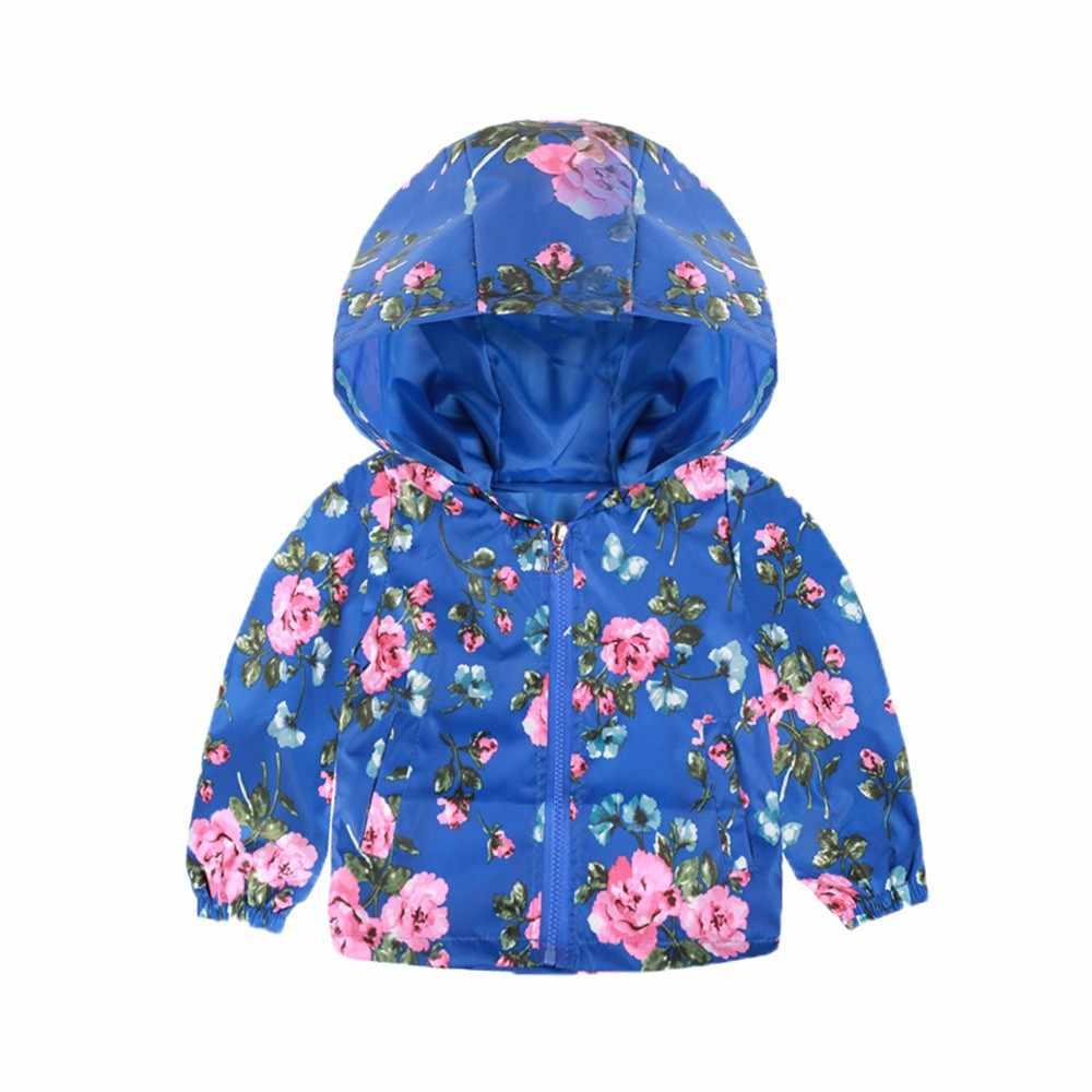 ילדי סתיו תינוק מעיל אופנה הדפסת קריקטורה ברדס תינוקת הלבשה עליונה תינוקת חורף תינוקת מעיל בגדי הלבשה עליונה