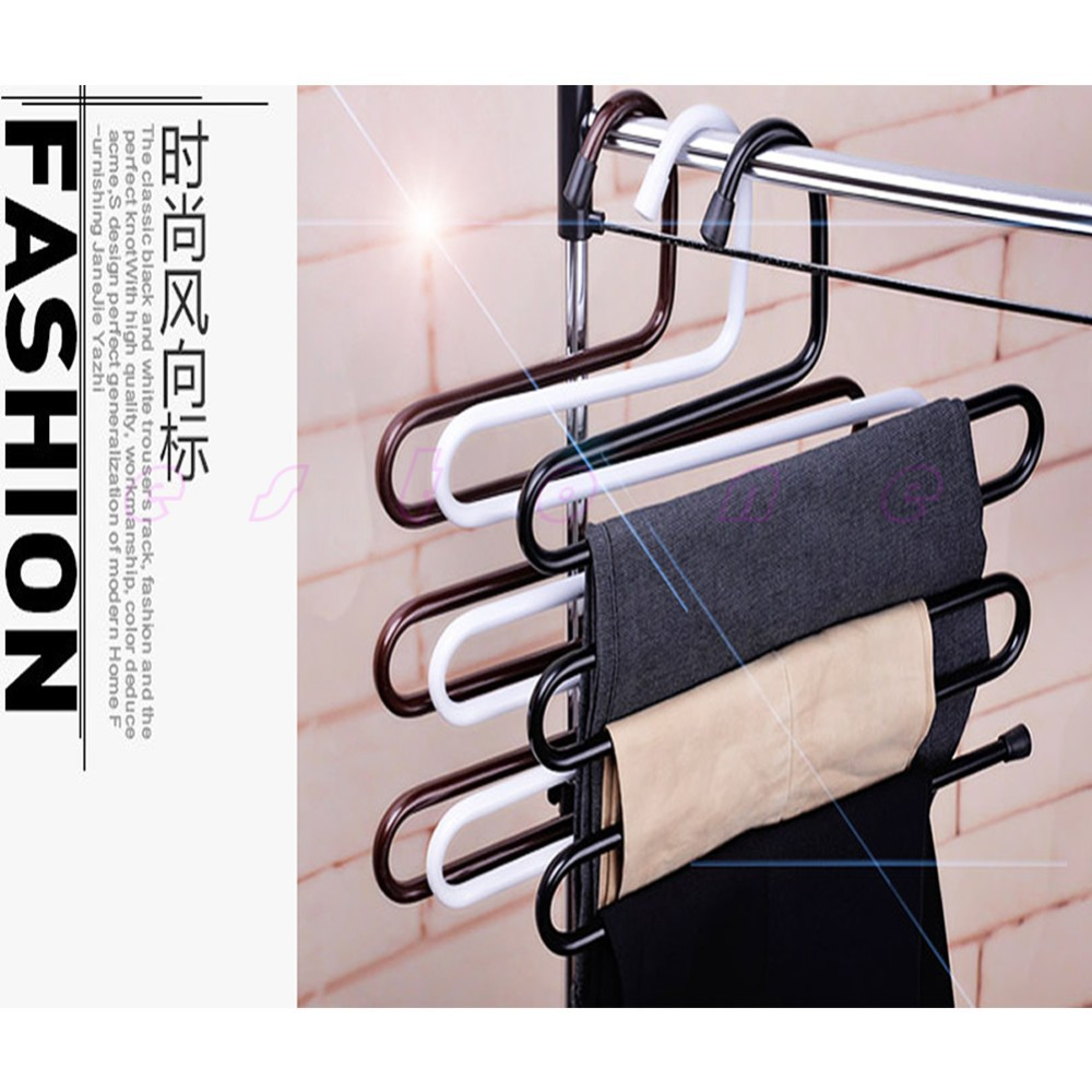 3pcs Space Save 5 Layers 35cm X 36cm Hangers For Cothes