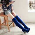 2014 otoño invierno nuevo correo del bolso zapatos de tacón alto femeninos gruesa con más de la rodilla botas de alta cilindro moda Caballero botas XY027