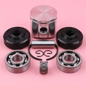 Image 1 - Anillo de perno de pistón de 38mm, Kit de sello de aceite de rodamiento de agujas para piezas de motosierra Husqvarna 136 137