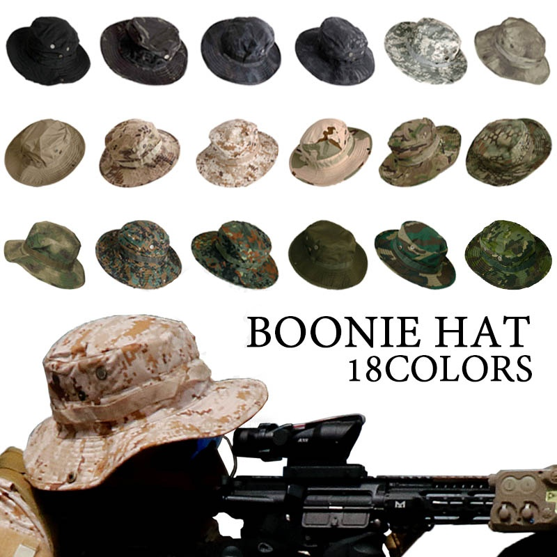 Camouflage Tactical Cap Military Boonie Hat US Army Caps Camo Men Outdoor Sports Sun Bucket Cap Fishing Hiking Hunting Hats
