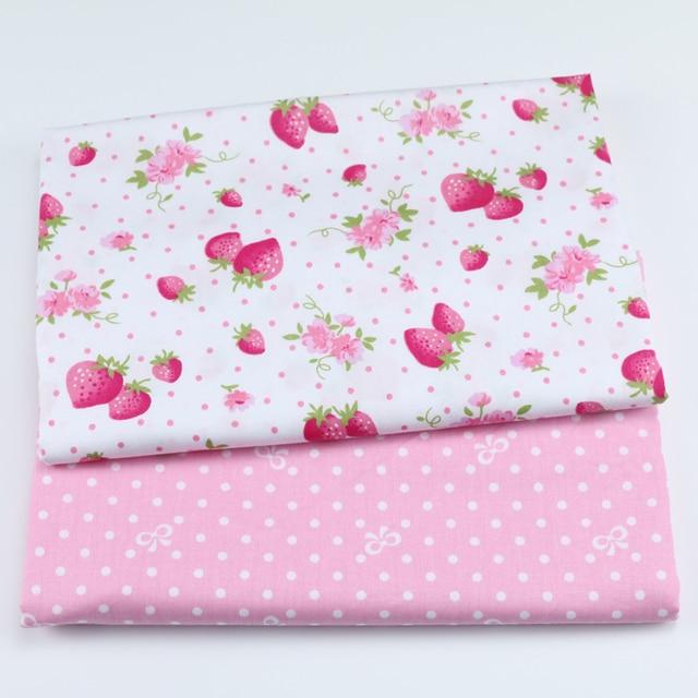 50x40 cm In Bông Dâu Tây Quilting Vải Của Handmade TỰ LÀM Cotton Twill May Em Bé & Trẻ Em Tấm Ăn Mặc chất liệu