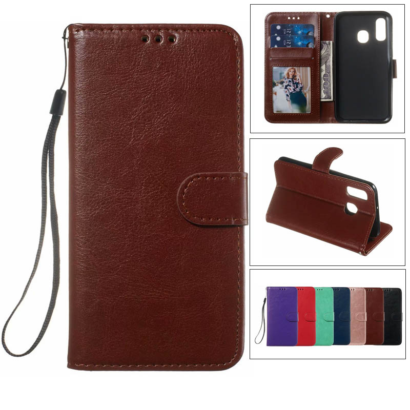 New Crazy Horse PU <font><b>Leather</b></font> <font><b>Case</b></font> Mobile Phone For <font><b>Samsung</b></font> A40 A20E A10 <font><b>M10</b></font> A30 M20 M30 A70 A50 <font><b>Flip</b></font> <font><b>stand</b></font> with Photo Frame <font><b>case</b></font> image