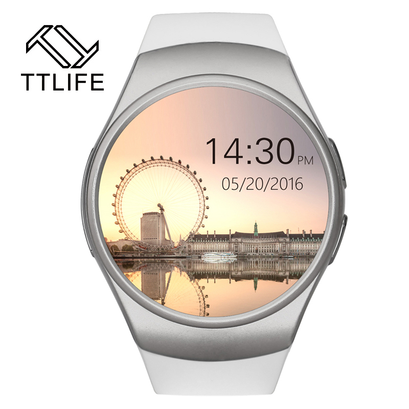 ФОТО 2016 TTLIFE KW18 Smart Watch Heart Rate Monitor Bluetooth 4.0 Smartwatch MTK2502C Siri & Gesture Control For iOS Andriod mobile