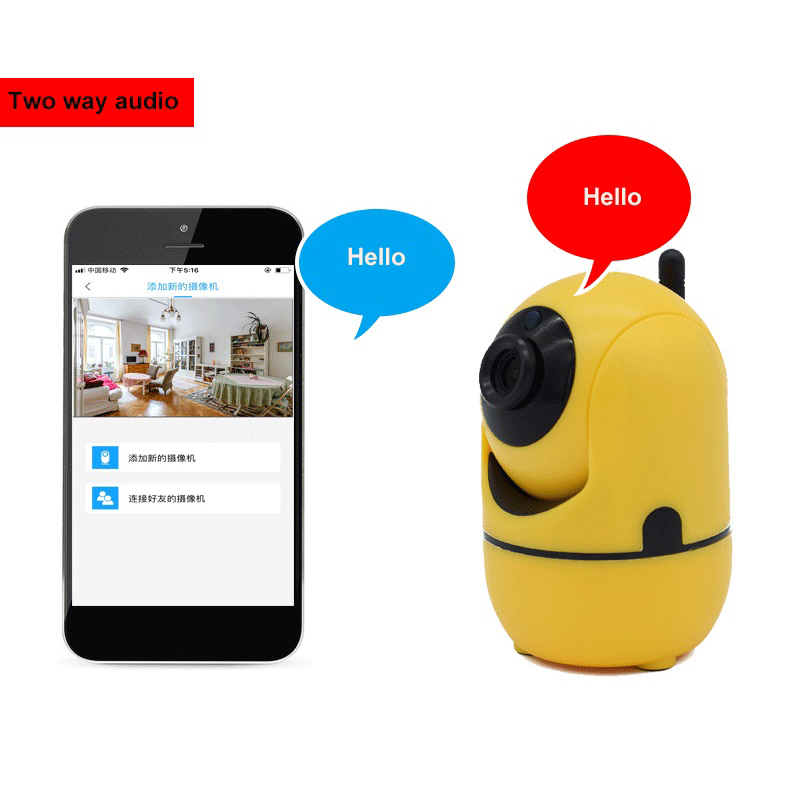 New Mini Wireless wifi Security IP Camera P2P remote view Two Way Audio Night Network Indoor Baby Monitor