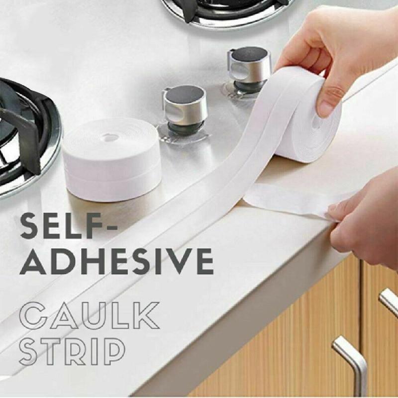 Hot Professional Self-Adhesive Caulk Strip Waterproof For Kitchen Bathroom Corner FQ-ing