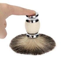 Высокое Качество 1 шт. 100% Pure Badger Волос Wet Shaving Brush Tool Бритья Мужской Салон Новое Прибытие J170117(China (Mainland))