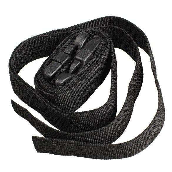 2 pcs preto ajustável nylon Acessórios para Viagem : Cintas para Bagagem