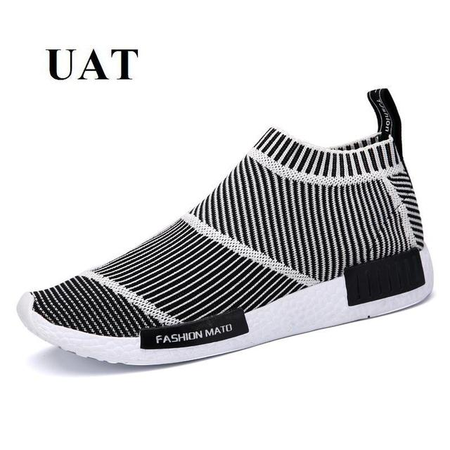 f472a9e70b5c Light men sport shoes Breathable Sneakers new design 2017 summer running  shoes slip-on Trainers Shoes Top quality