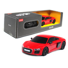 New Arrival 1:24 Electric RC Car Toys For Boys Girls Remote Control Toys Radio Control Cars Kids Gift Audi R8 V10 72300(China)