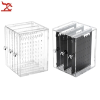 3 Drawer Clear Acrylic Makeup Jewelry Organizer Holder Earrings Stud Holder Necklace Organizer Case Cabinet Earrings Stand Shelf