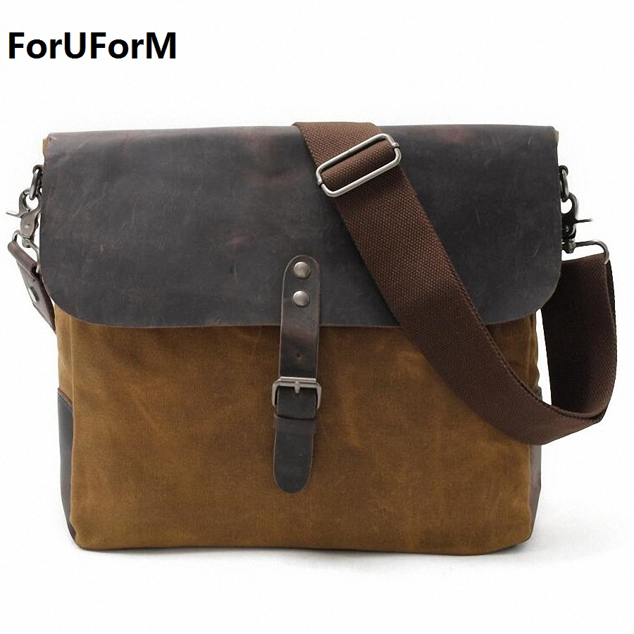 2017 Designer Postman Men s waterproof Crossbody Bag Laptop Case Office Briefcase Men Messenger Bags Canvas