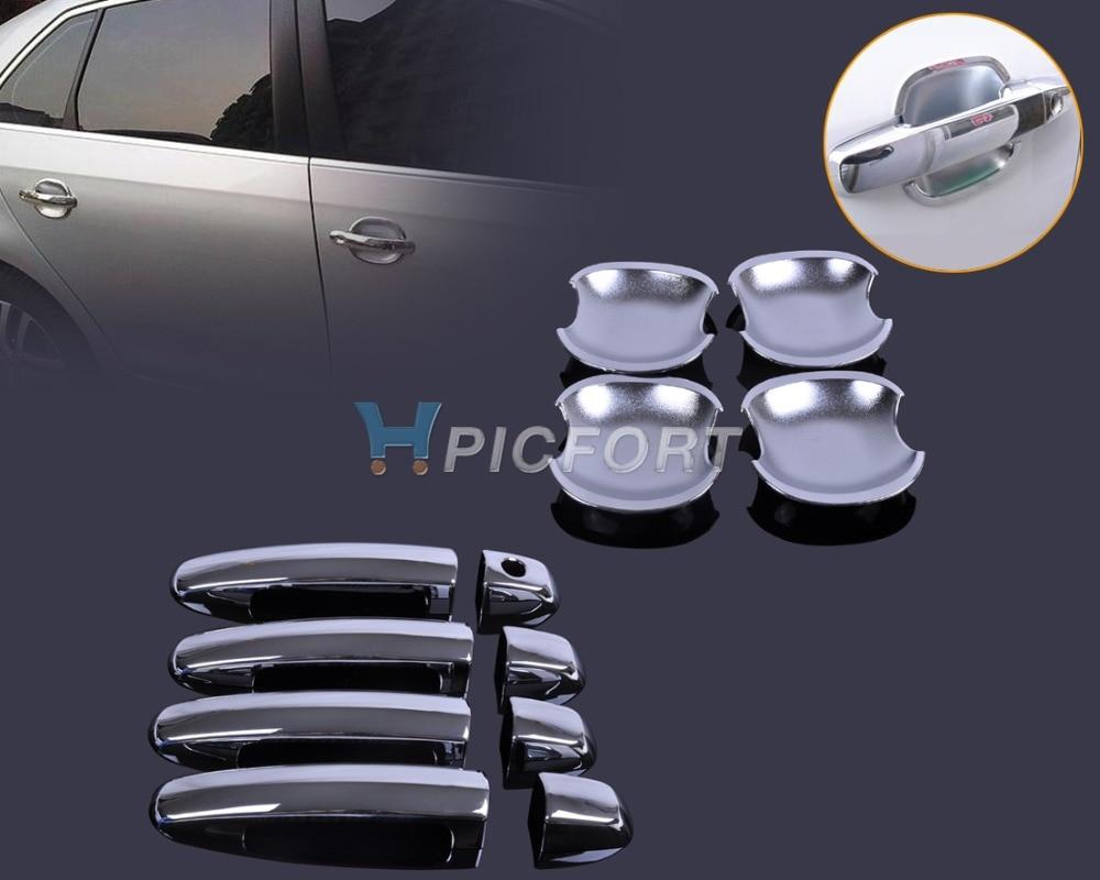 CITALL Nouvelle Porte Chrome Poignée Cover + Coupe Bowl Garniture pour Suzuki Swift Grand Vitara 2005 2006 2007 2008 2009 2010 2011 2012