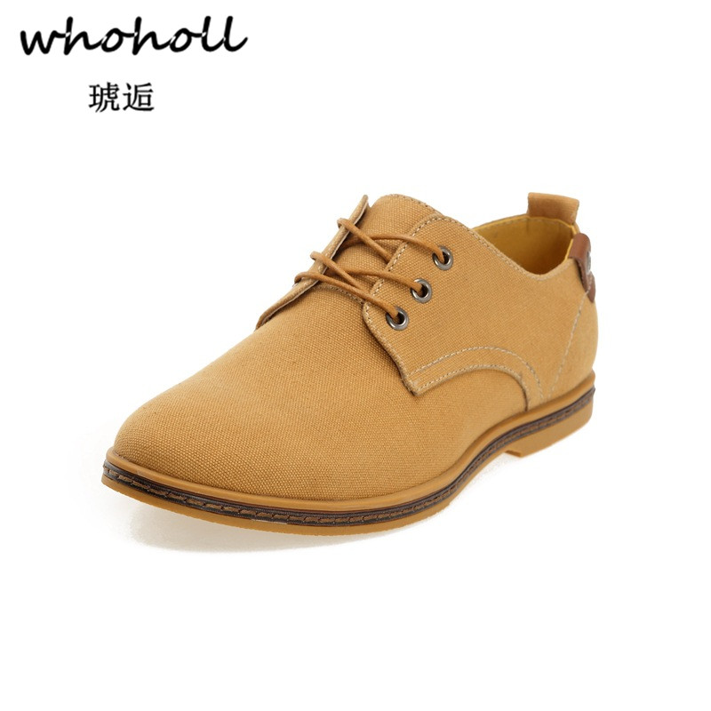 2018 Fashion Men Casual Shoes New Autumn Men Flats Lace Up Male   Suede   Oxfords Men   Leather   Shoes Zapatillas Hombre Size 38-48