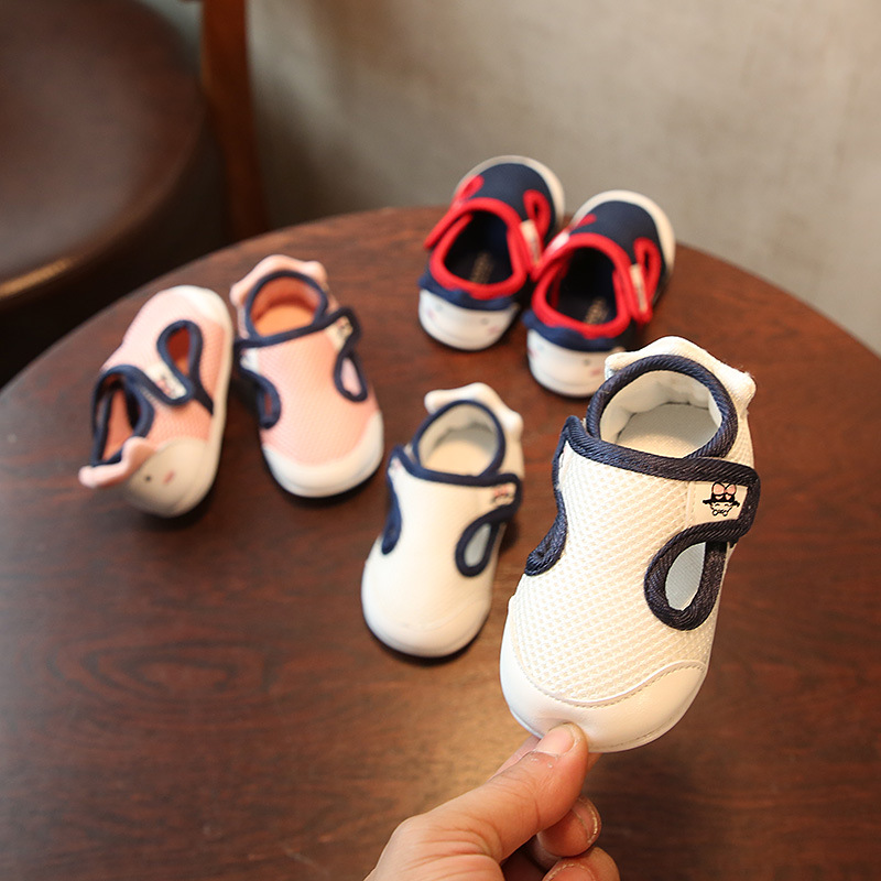 2018 Spring New Baby Boys Girls Leisure Sneakers White Shoes Toddler First Walkers Size 15-19
