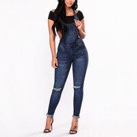 Plus Size Denim Jeans Large Big Size Woman Overalls Casual High Street Wear 2018 Fashion Bottoms Vintage Pants Leisure Bib Jeans