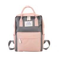Kobiety Canvas plecaki cukierki kolor wodoodporna szkoła torby dla nastolatków dziewczyny duże słodkie plecak na laptopa Patchwork Kawaii plecak