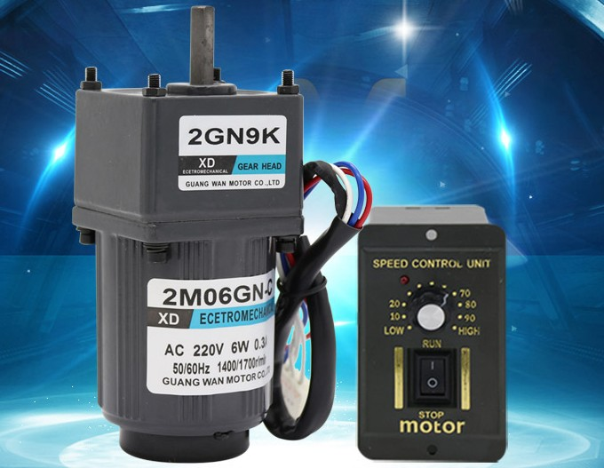 220V gear deceleration AC motor 6W slow torque can be positive and negative can speed motor small motor