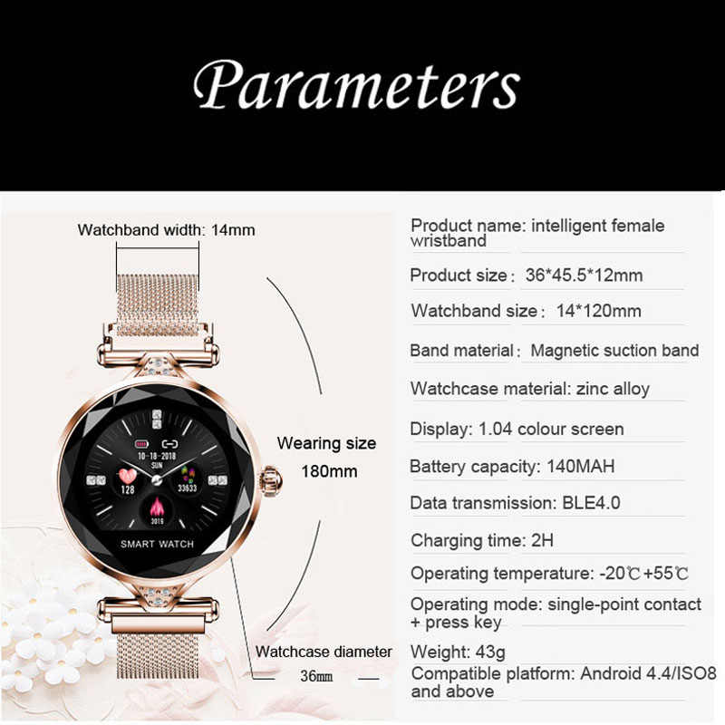2734100ab5d ... FUYIJIA 2019 New Fashion Watches Woman Sports Smart Watch Ladies 1.04  Inch IPS HD Color Screen ...