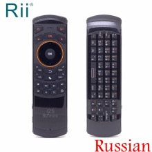 Rii Mini i25 Air Mouse 2.4Ghz Russian Wireless Keyboard with IR Remote Learning for Android TV Box/Mini PC/Laptop/IPTV ir learning air mouse backlit with voice microphone 2 4g wireless mini keyboard with ir learning extend remote controller