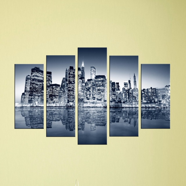 Custom Canvas Wall Art unstretched home decor canvas modern city digital painting