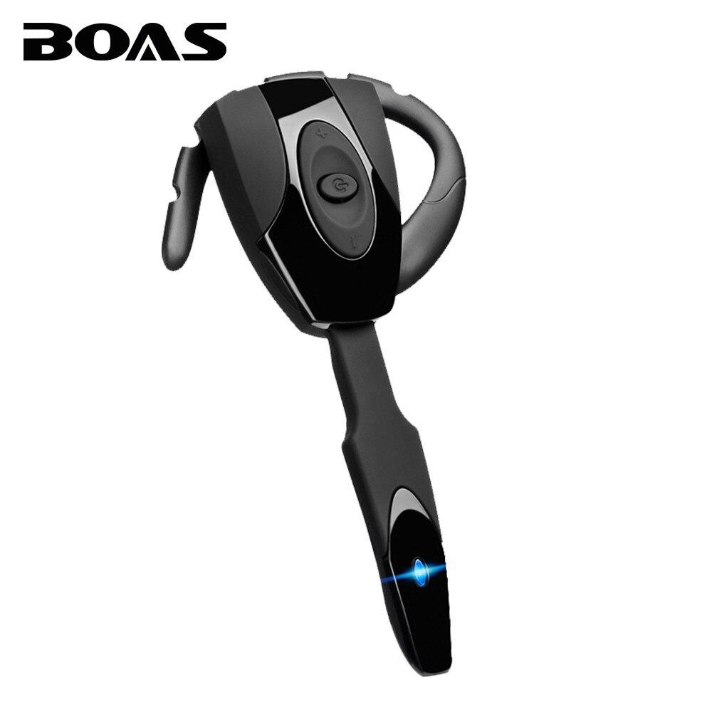 BOAS bluetooth 4.1 wireless headphones earphone headset with microphone mini handfree ear hook headset for iphone xiaomi samsung