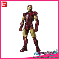 PrettyAngel Genuine BANDAI SPIRITS Tamashii Nations S.H.Figuarts SHF Iron Man Mark 3 Action Figure