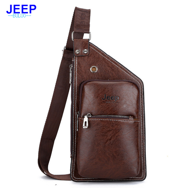 78392359df4 Hengsheng newly brand men crossbody bag by JEEP men shoulder bags pu  leather men waist pack of leather Travel Chest Bag men bag