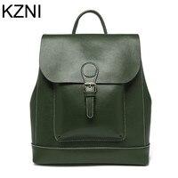 KZNI Genuine Leather Bags For Women Shoulder Strap Bag Woman Bag Bolsos Mujer De Marca Famosa