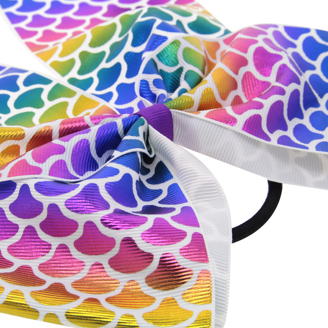 Children's love swallowtail bow Oversized girl JOJO colorful series bow Wholesale Baby Accessories