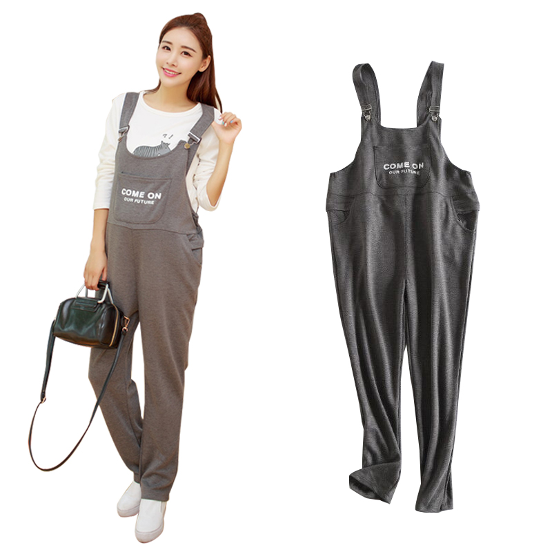 Adjustable Pregnant Women's Suspenders Black Red Gray Maternity Pants Casual Prop Belly Trousers Pregnancy Overalls Clothing