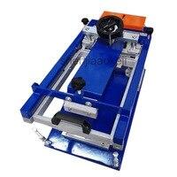 1 pc Dia: 160 milímetros Manual de máquina de impressão da tela cilíndrica Pequena curva curvo impressora da tela área de impressão Máxima de 240*200 milímetros