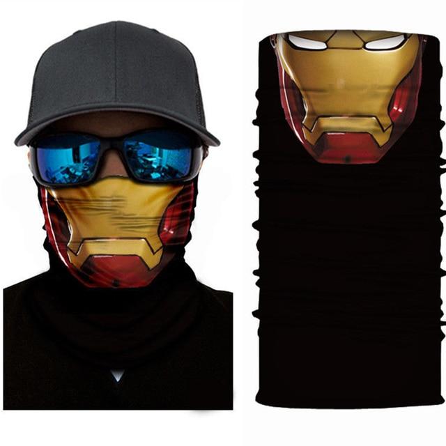 Superheros Hulk Black Panther Deadpool Motorcycle Cycling Neck Scarf Half Face Mask Bandana Headband Cosplay Masks 4