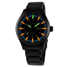 EPOCH 7019G steel strap waterproof 100m 63 tritium gas tubes luminous mens fashion mechanical watch wristwatch