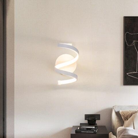 nordico moderno metal interior led lampada