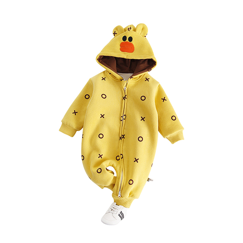 fe32300e1735 Buy Autumn Winter Baby Rompers Long Sleeves Plus Velvet Warm Thicker ...