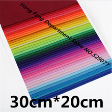 40Pcs 30*20 Polyester Nonwoven Fabric 1mm Felt Cloth For Diy Home Decoration Crafts Sewing Toys Gift Dolls Handmade Exhibition(China)