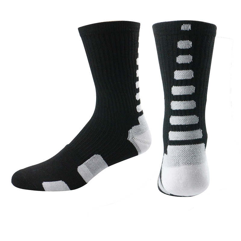 Men jordan Elite basketball socks 3D Thick professional sport long socks Cotton Thermal stripes casual motion compression sock