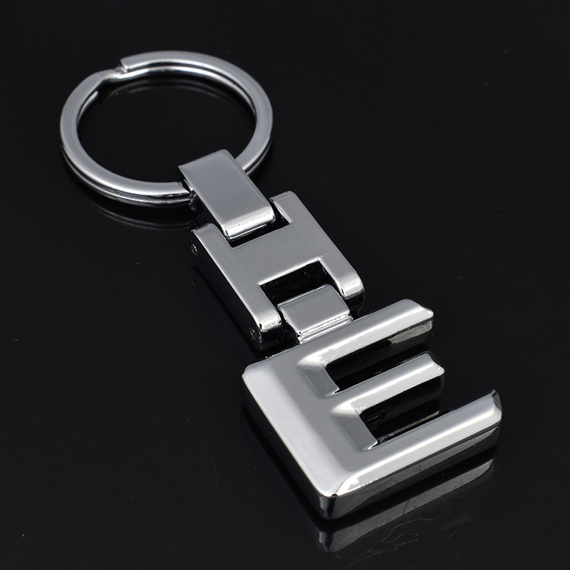 3D Cars Key Chain Keyring For Mercedes-Benz Letter E Hooks Holder Accessories