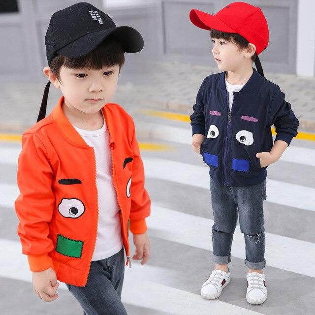 Модная весенняя куртка для девочек верхняя одежда с героями мультфильмов для маленьких мальчиков одежда с замком-молнией дети Куртки пальто с длинными рукавами Детская одежда От 2 до 10 лет